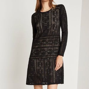 BCBGMaxazria Waving Vines Lace Shirt Dress- Small
